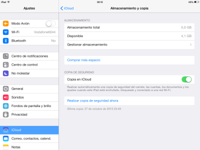iCloud almacenamiento