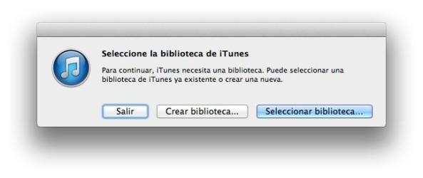 Trasladar carpeta iTunes