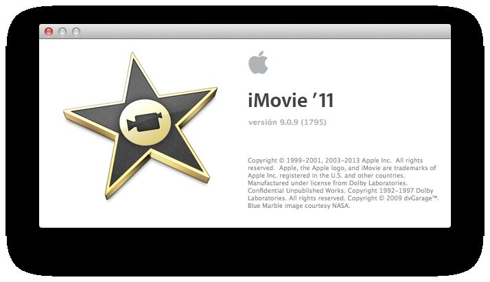 iMovie 9.0.9