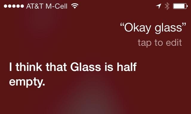 Ok Glass Siri