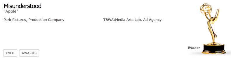 Apple Creative Emmy