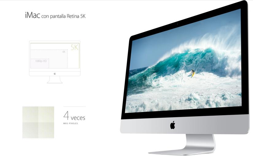 iMac pantalla Retina 5K, pixeles pordoquier