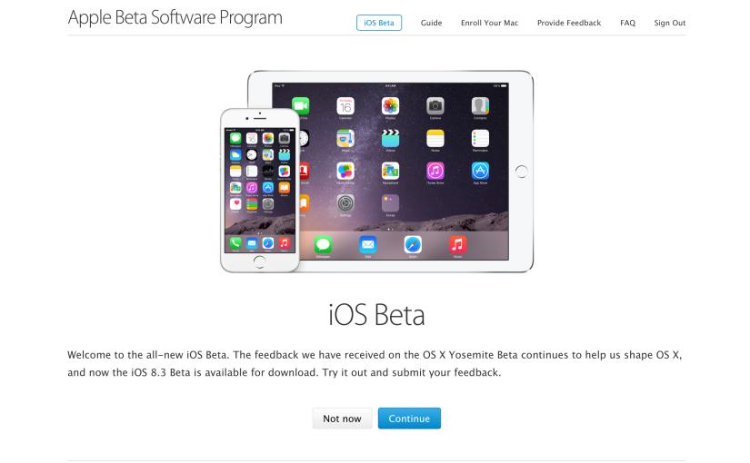 iOS 8.4 Beta 1 en el programa de Betapública