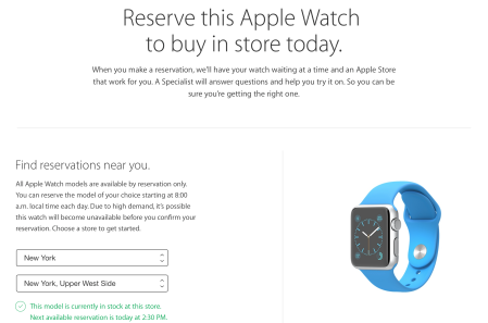 Sistema de reserva Apple Watch