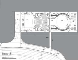 Plano superior del Steve Jobs Theater