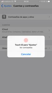 Llavero de iCloud Contraseñas