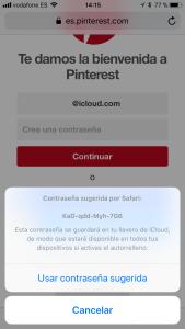 Llavero de iCloud iOS