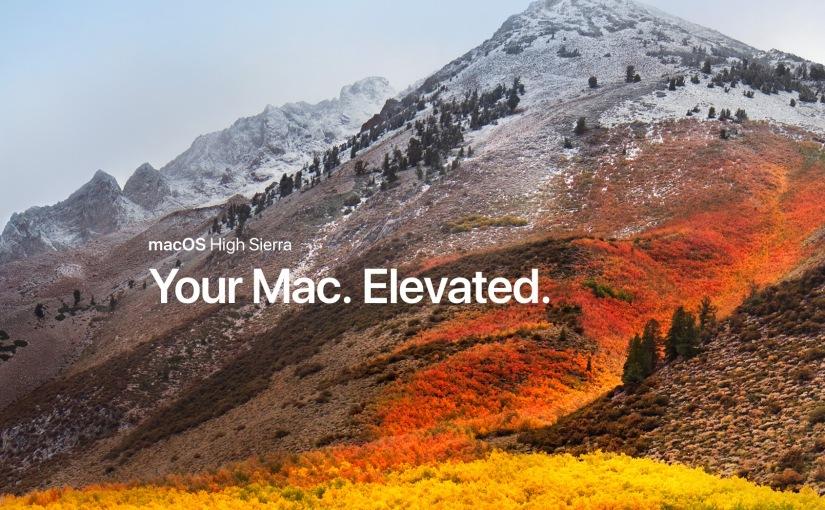 Apple actualiza macOS High Sierra para cerrar unavulnerabilidad