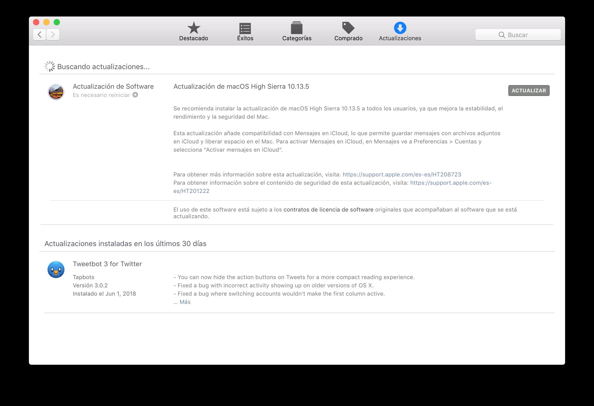 macOS 10.13.5
