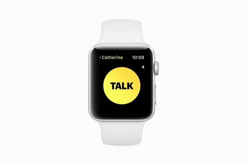 watchOS 5 walkie-talkie