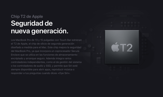 Chip T2 MacBook Pro Touch Bar