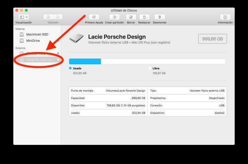 macOS Utilidad de discos 1