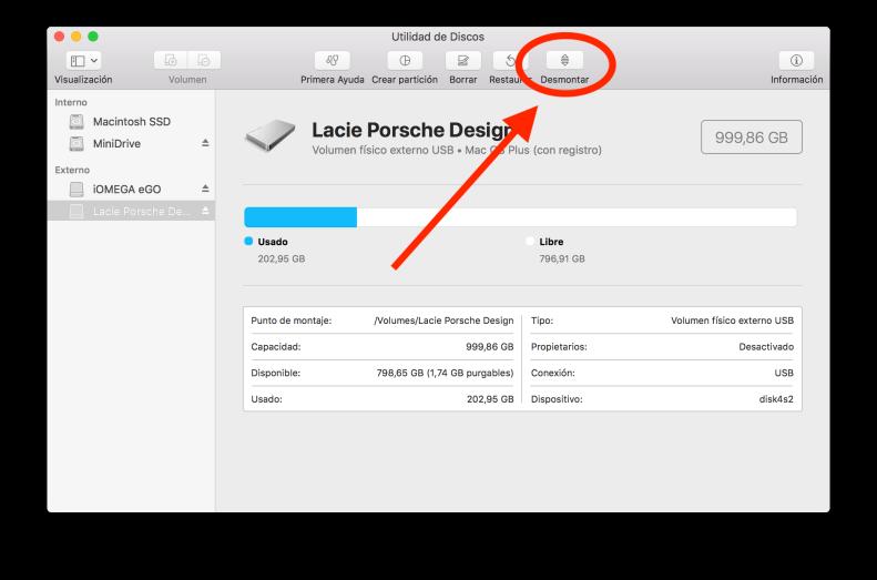 macOS Utilidad de discos 2