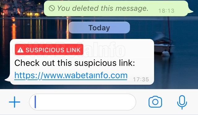 WhatsApp Suspicious Link