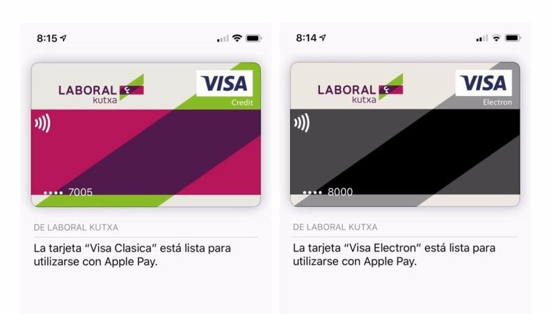 Laboral Kutxa tarjeta Apple Pay