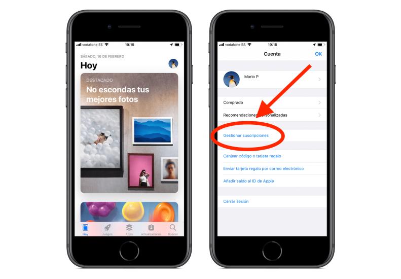 iOS 12.2 Suscripciones App Store