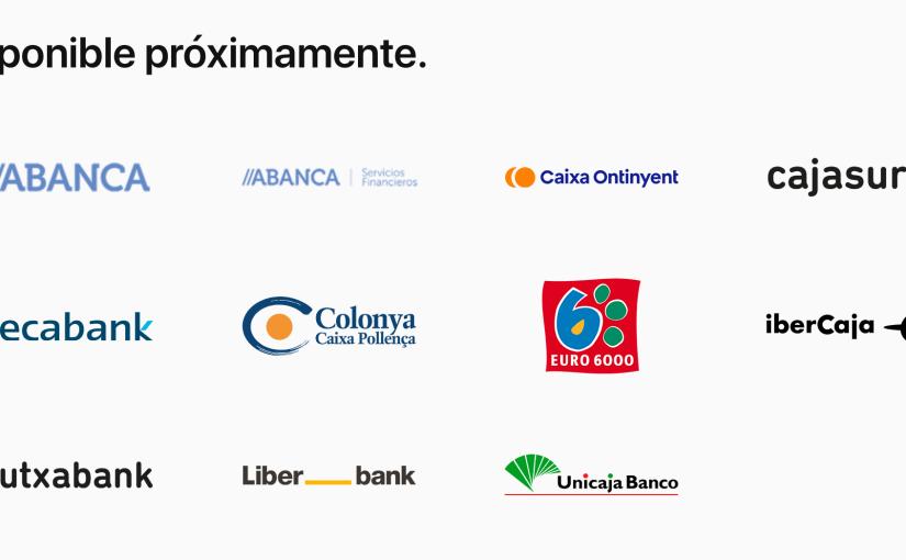Kutxabank, Ibercaja, Abanca aceptan ApplePay