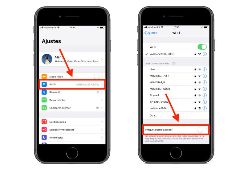 iPhone WiFi iOS 12 Preguntar Para Acceder