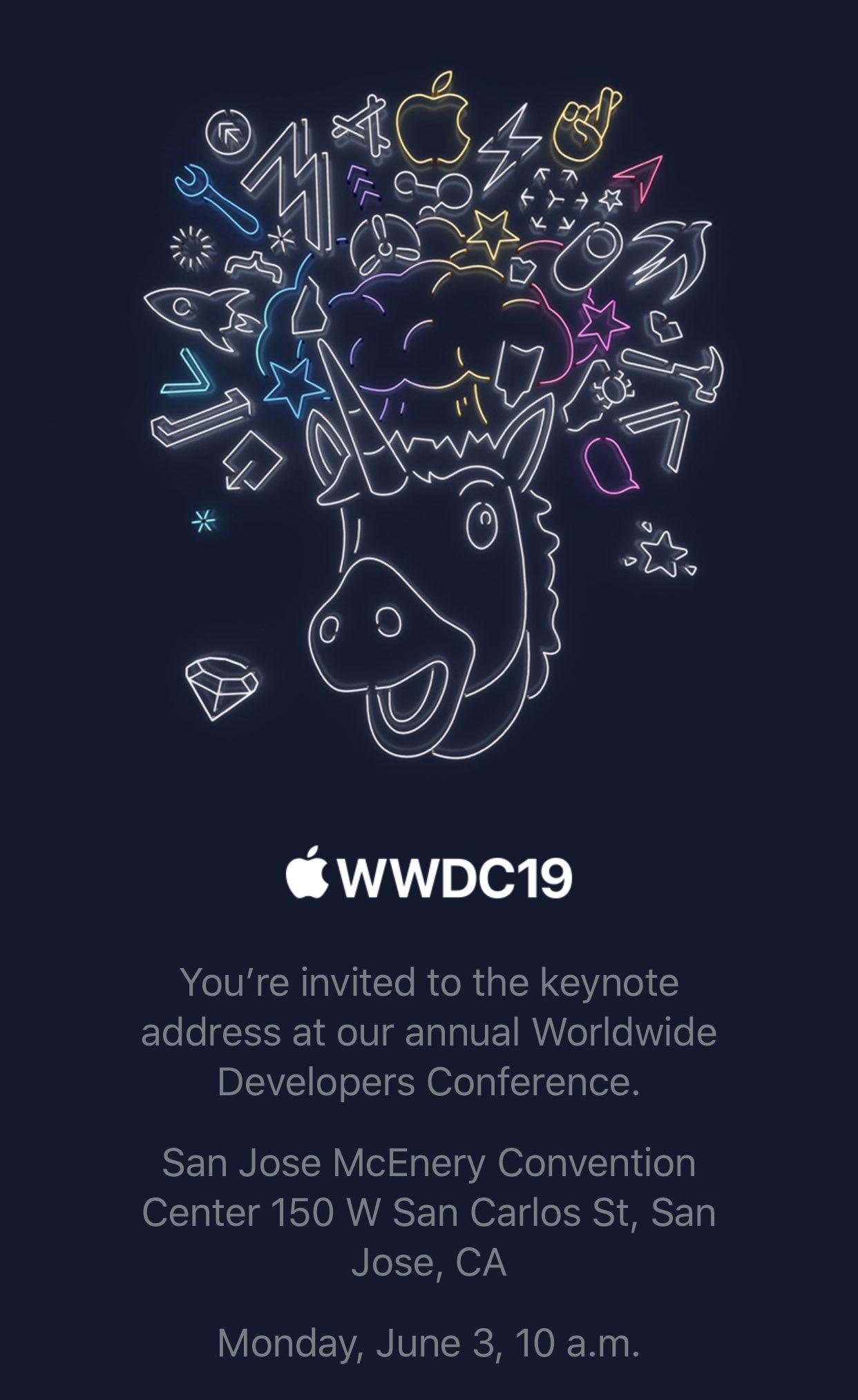 WWDC 2019 invitación