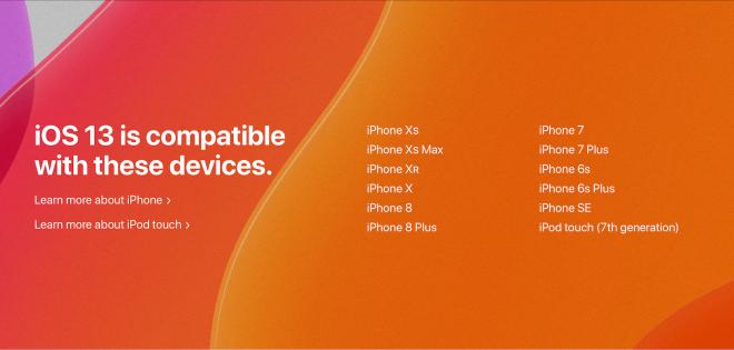 iOS 13 compatibility